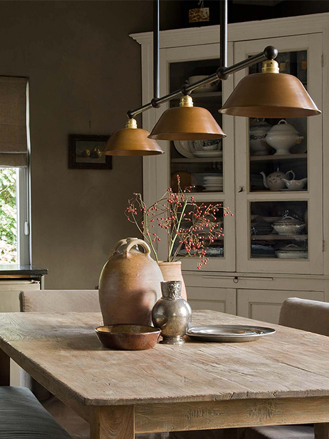 Frezoli Maroni 3 Bruin Patina Hanglamp