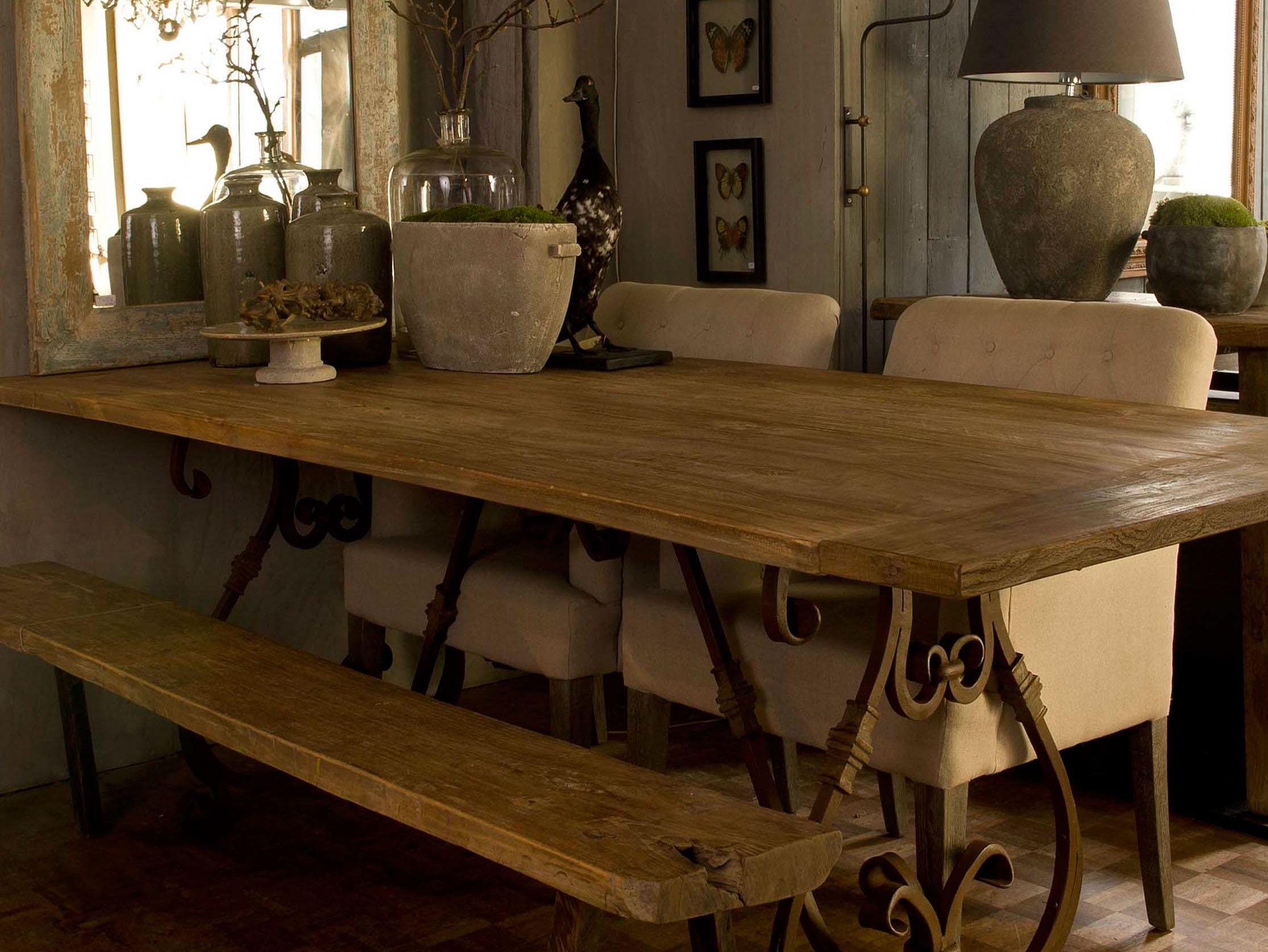 stoere tafels geleefde eettafels van eiken teak of elmwood